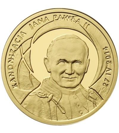 100 złotych 2014, Jan Paweł II - Kanonizacja