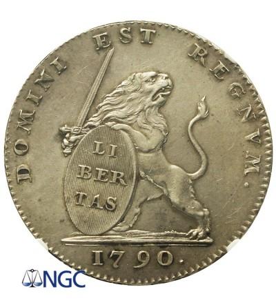 Austrian Netherlands. 3Florins (Gulden) 1790, Brusel, NGC MS 62
