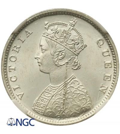 India British 1/2 Rupee 1862, NGC MS 65+