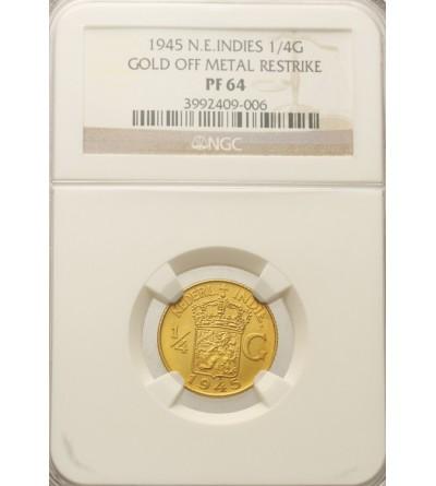 Netherlands East Indies 1/4 Gulden 1945. NGC PF 64