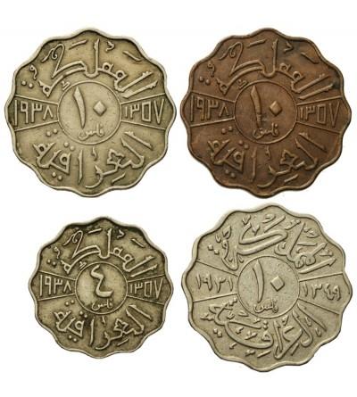 Iraq 4 i 10 Fils 1931-1938, lot 4 pcs