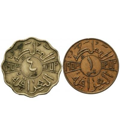 Iraq 1, 4 Fils 1953, lot 2 pcs