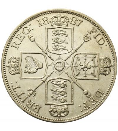 Great Britain 2 florin 1887. Roman 1