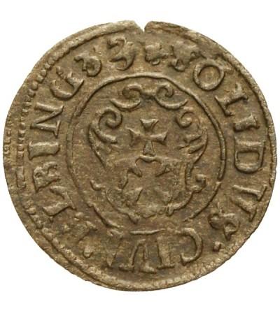 Elbląg szeląg 1633/2, szwedzka okupacja