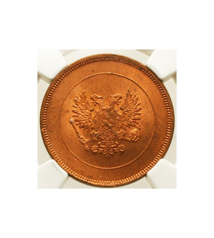 Finlandia 10 pennia 1917 - orzeł - NGC MS 64 RD