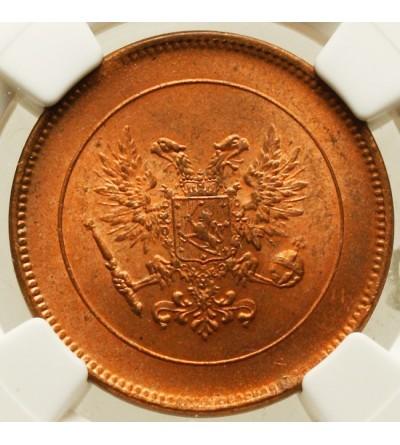 Finlandia 5 pennia 1917 - orzeł - NGC MS 65 RD
