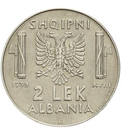 Albania 2 lek 1939 - włoska okupacja