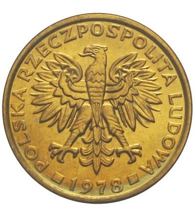 PRL 2 złote 1978, bez znaku mennicy, GCN MS63