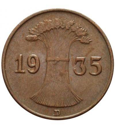 Weimar 1 Reichspfennig 1935 D
