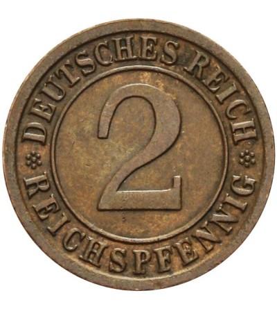 Weimar 2 Reichspfennig 1936 F