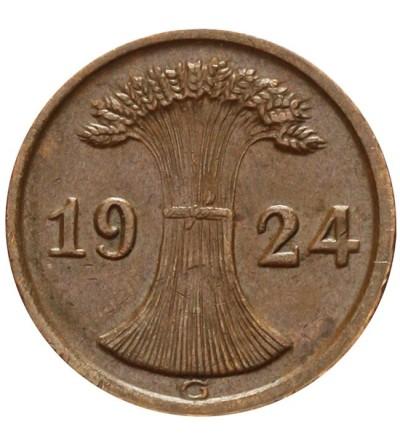 Weimar 2 Reichspfennig 1924 G