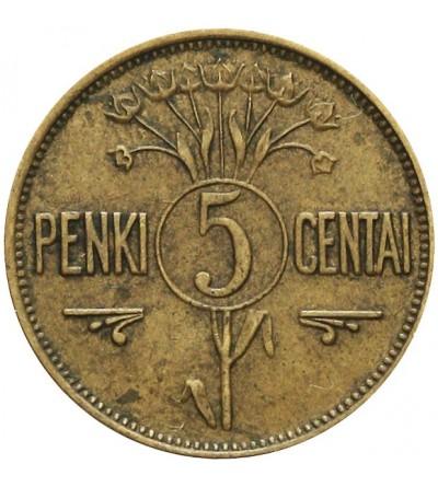 Litwa 5 centów 1925