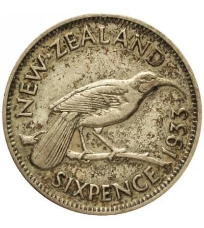 Nowa Zelandia 6 pensów 1933
