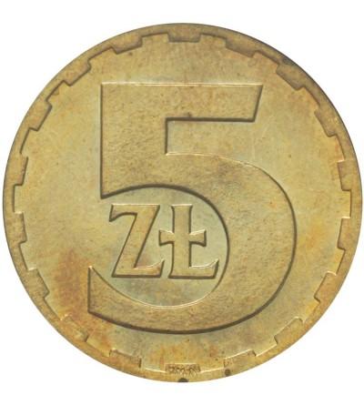 PRL 5 złotych 1975, GCN MS63
