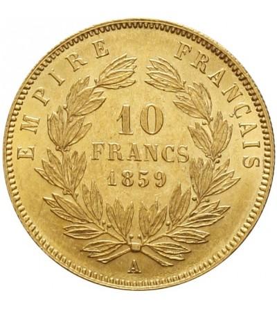 Francja 10 franków 1859 A, Paryż