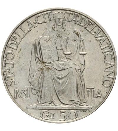 Watykan 50 centesimi 1942, Pius XII 1939-1958