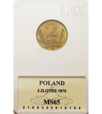 PRL 2 złote 1975, GCN MS65
