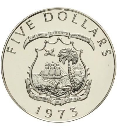 Liberia 5 dolarów 1973