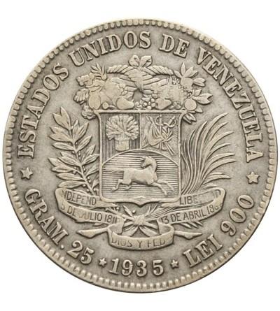 Wenezuela gram 25 (5 Bolivares) 1935
