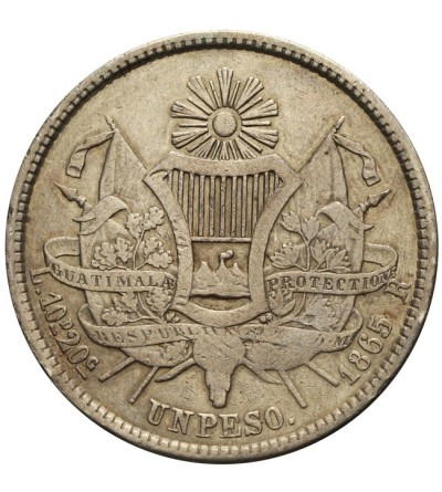 Gwatemala 1 peso 1865