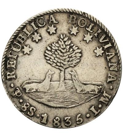 Boliwia 8 soles 1835 L.M.