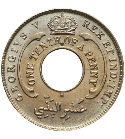 Brytyjska Afryka Zachodnia 1/10 penny 1912 H