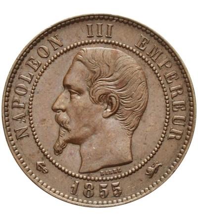 Francja 10 centimes 1855 D