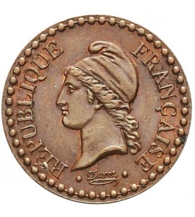 Francja 1 centime 1849 A