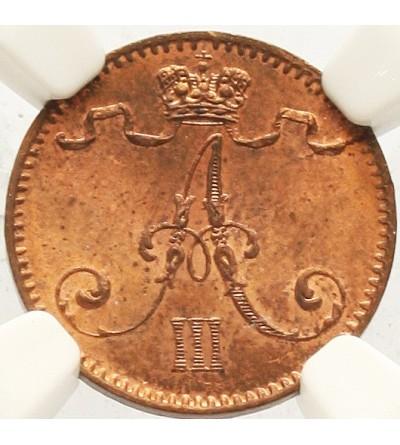 Finlandia 1 penni 1893 - NGC MS 64 RB