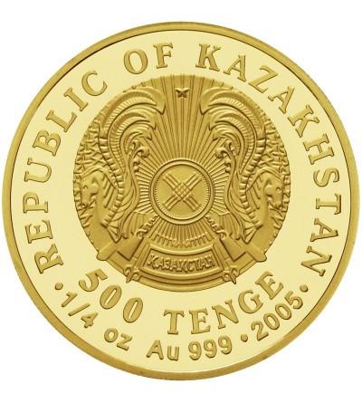 Kazakhstan 500 tenge 2005, wilk z diamentami w oczach