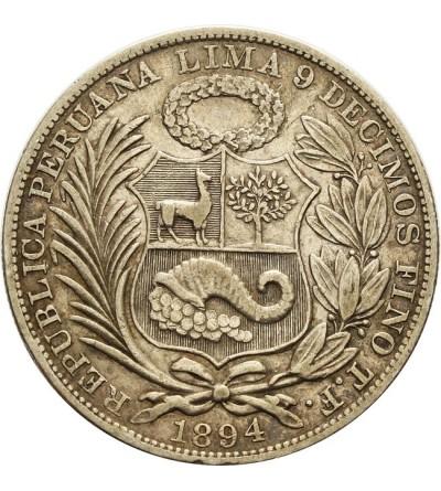 Peru 1 sol 1894 T.F.