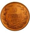 Finlandia 10 pennia 1917 - orzeł