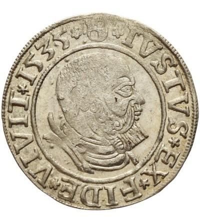 Prusy Książęce. Grosz 1535 Królewiec