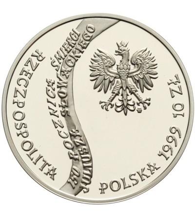 10 złotych 1999, 150 rocz. śmierci Juliusza Słowackiego