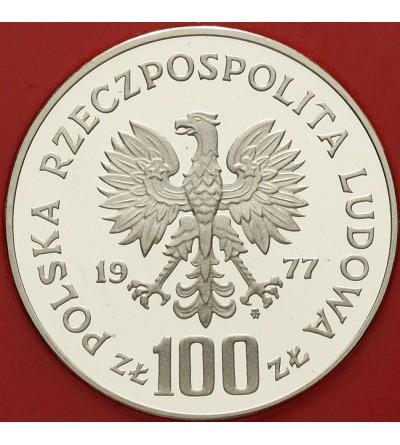 100 złotych 1977, żubr - próba