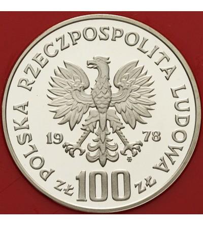 100 złotych 1978, głowa łosia - próba