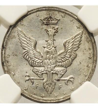 Królestwo Polskie 10 fenigów 1917, NGC MS 63