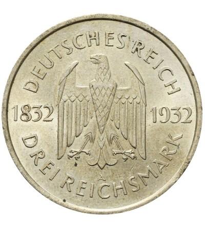 Weimar 3 marki 1932 A, Goethe