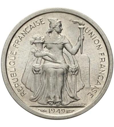 Nowa Kaledonia 1 frank 1949