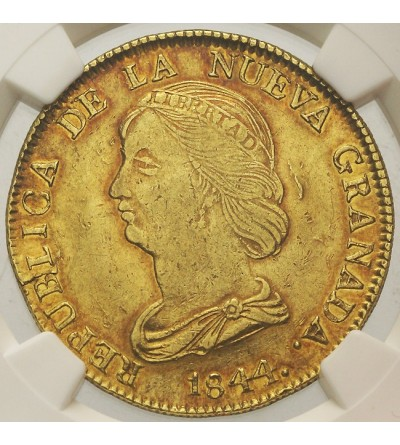 Kolumbia - Nowa Grenada 16 pesos 1844 UM - NGC AU53