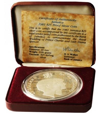 Jamajka 25 dolarów 1981 - Proof
