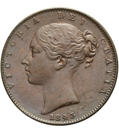 Wielka Brytania 1 farthing 1843