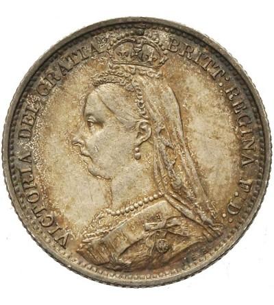 Wielka Brytania 6 pensów 1889