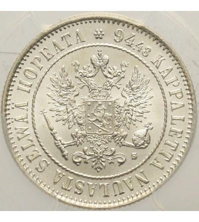 Finlandia 1 marka 1915, PCGC MS65