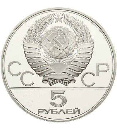 ZSRR 5 rubli 1979 - Igrzyska Olimpijskie w Moskwie - podnoszenie ciężarów Proof