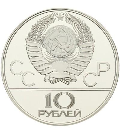 ZSRR 10 rubli 1978 - Igrzyska Olimpijskie w Moskwie - kolarstwo Proof