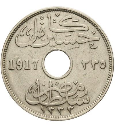 Egipt 10 milliemes 1917 KN