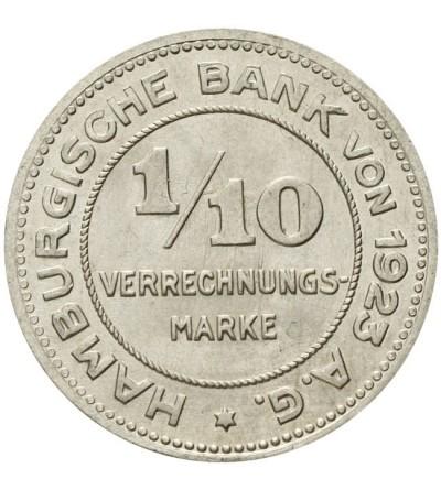 Hamburg 1/10 verrechnungsmarke 1923