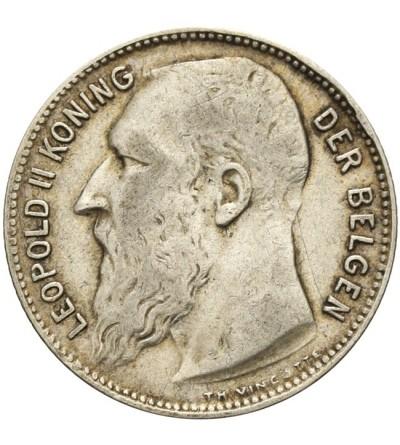 Belgia 1 frank 1909, BELGEN