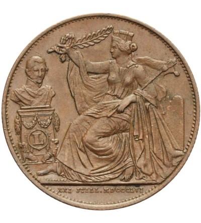 Belgia próbne 5 centimes 1856
